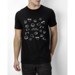 T shirt La vérité est ailleurs (extra-terrestre) - Noir